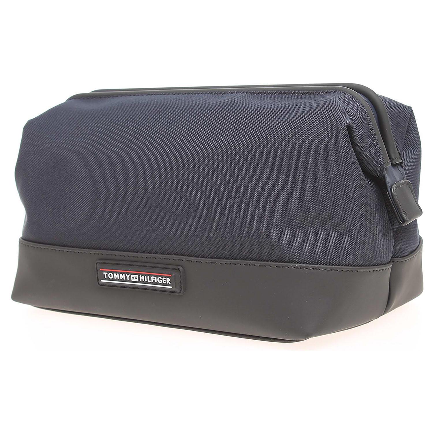 Ecco Tommy Hilfiger pánská kosmetická taška AM0AM02004 modrá 10801078