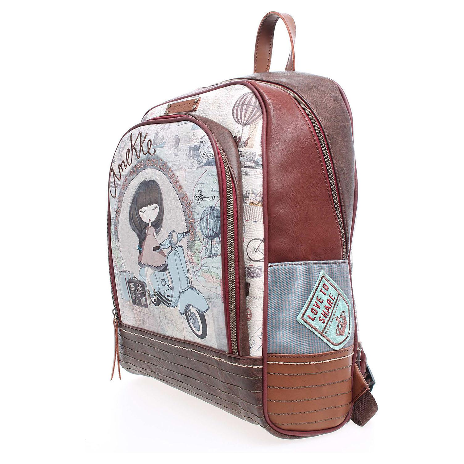 Anekke dámský batoh 23716-3 hnědý 1