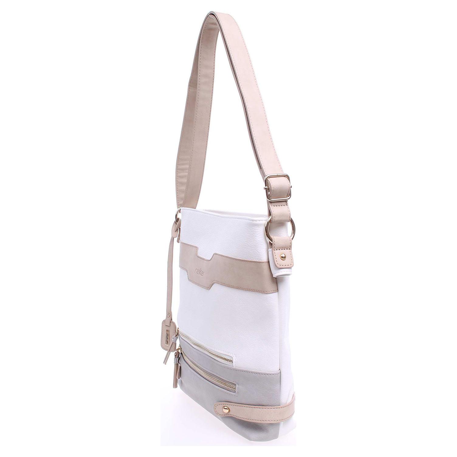 Ecco Rieker dámská kabelka H1037-80 bílá-béžová 11890903