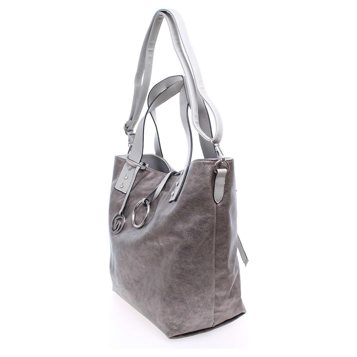 Remonte dámská kabelka Q0368-90 stříbrná 1
