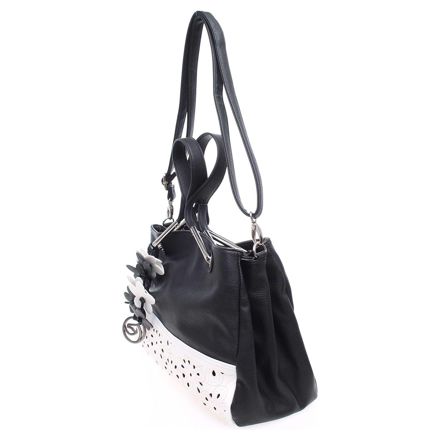 Ecco Remonte kabelka Q0371-01 černá-bílá 11890923