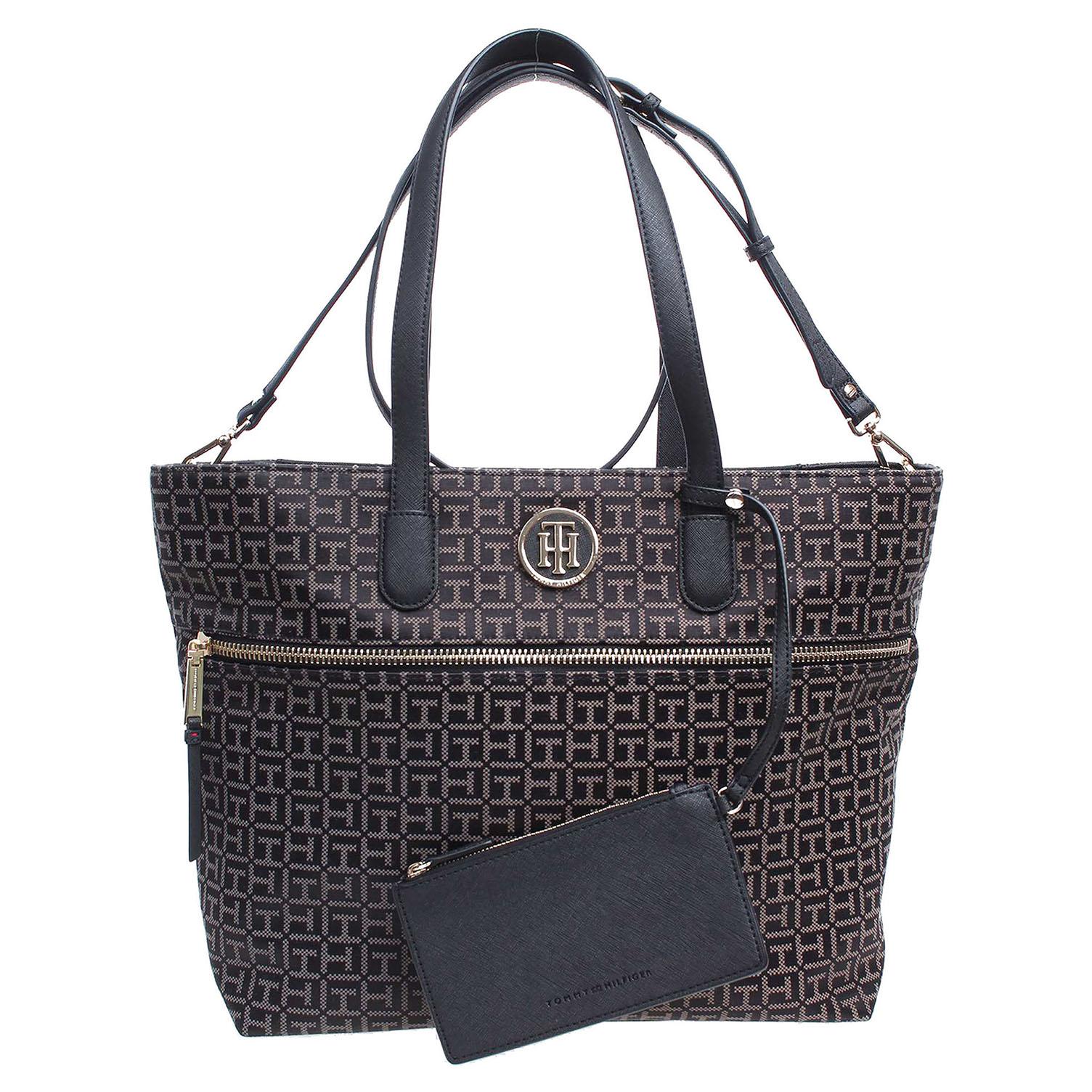 Tommy Hilfiger dámská kabelka AW0AW01223 černá-šedá 1