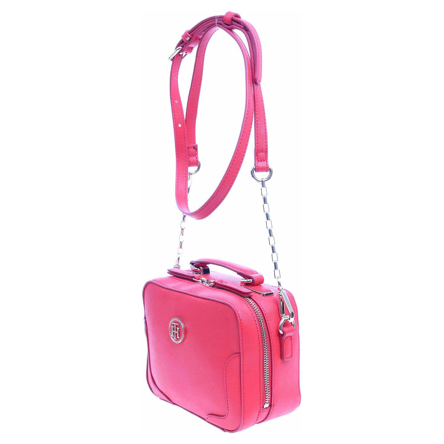 Ecco Tommy Hilfiger dámská kabelka AW0AW03675 červená 11891144
