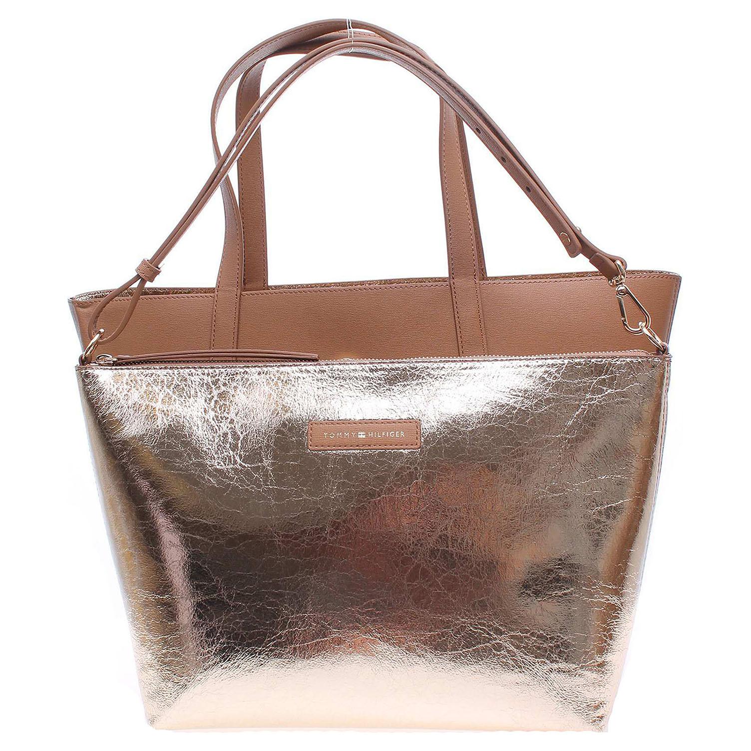Ecco Tommy Hilfiger dámská kabelka AW0AW04137 béžová-zlatá 11891160