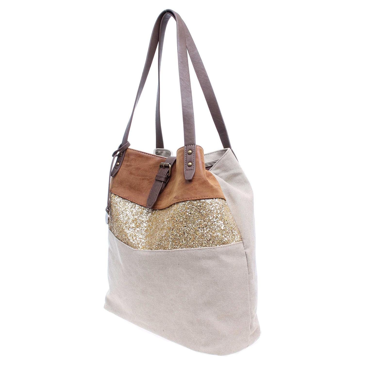 Ecco Dámská kabelka C1201GF hnědá-zlatá 11891198