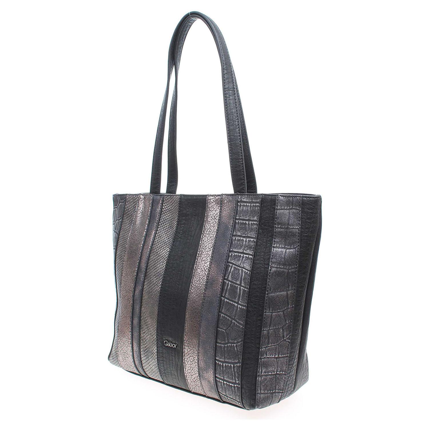 Ecco Gabor dámská kabelka 7718 60 Imola černá-stříbrná 11891231