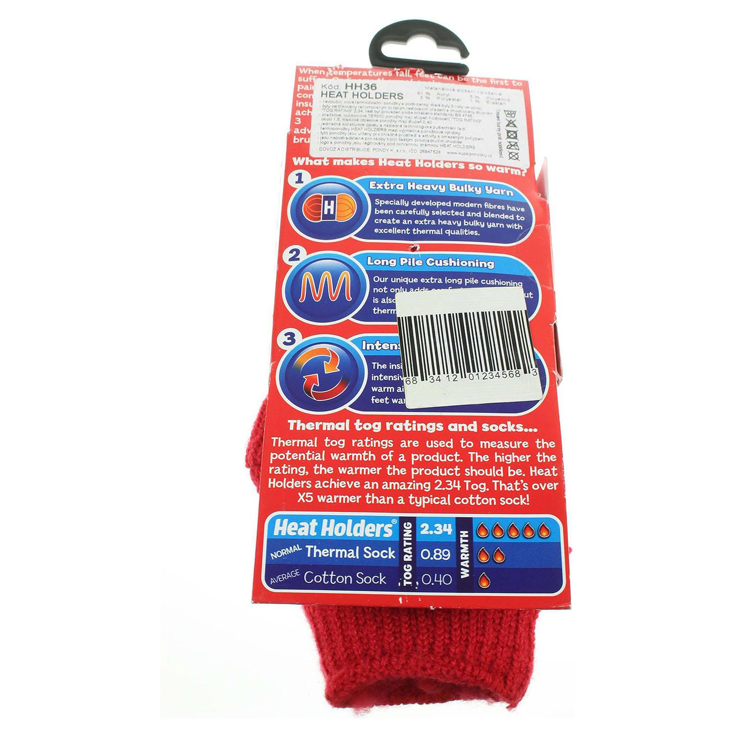 Heat Holders dětské ponožky červené 33
