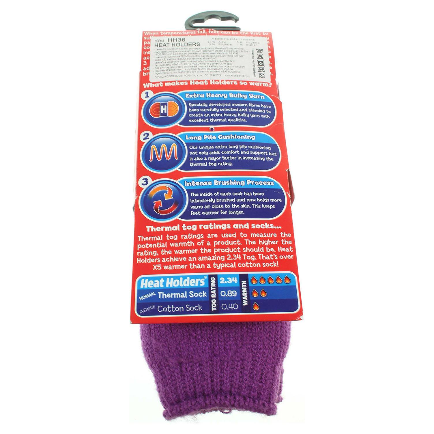 Heat Holders dětské ponožky fialové 33