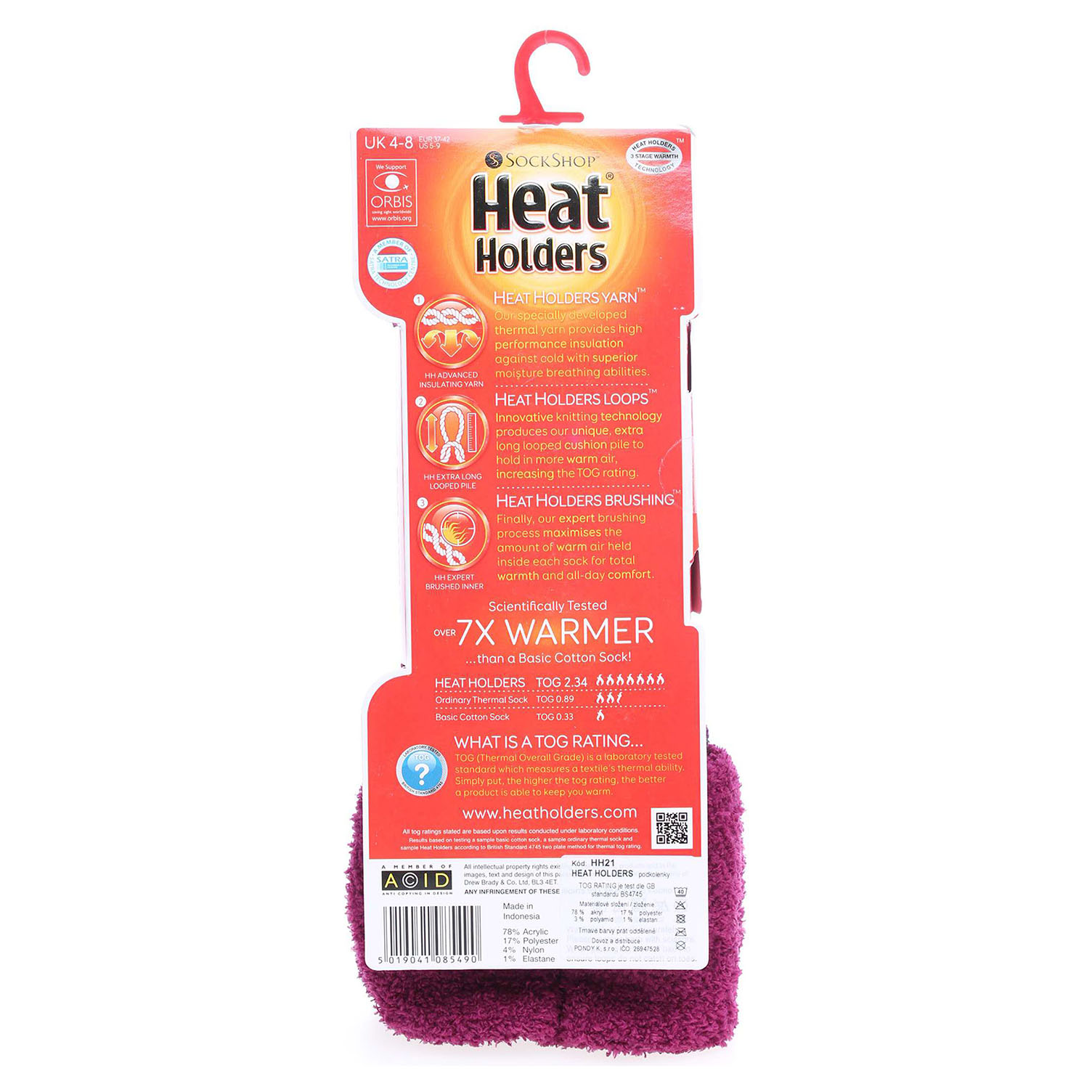 Ecco Heat Holders dámské podkolenky HH21 fialové 13201979