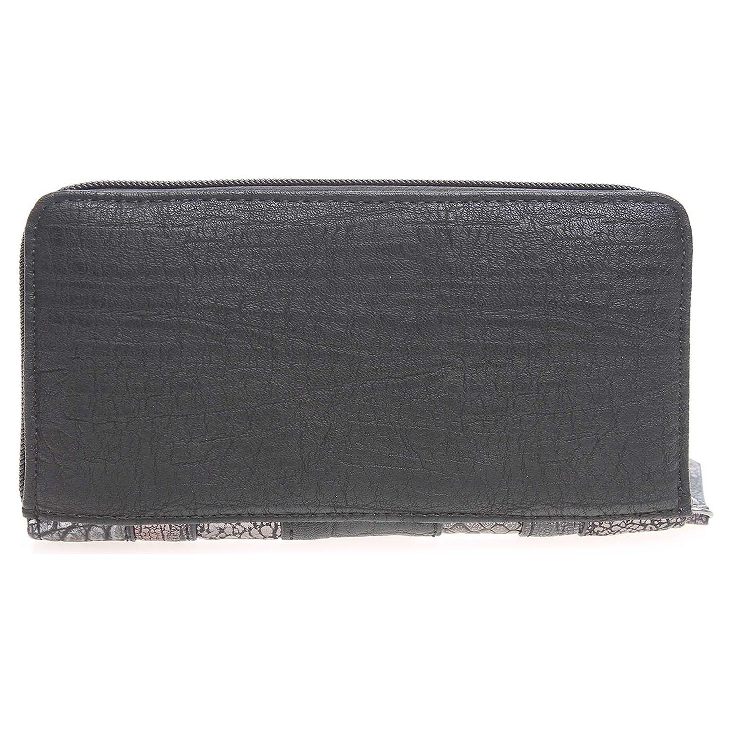 Ecco Gabor dámská peněženka 7720 60 černá-stříbrná 14200443