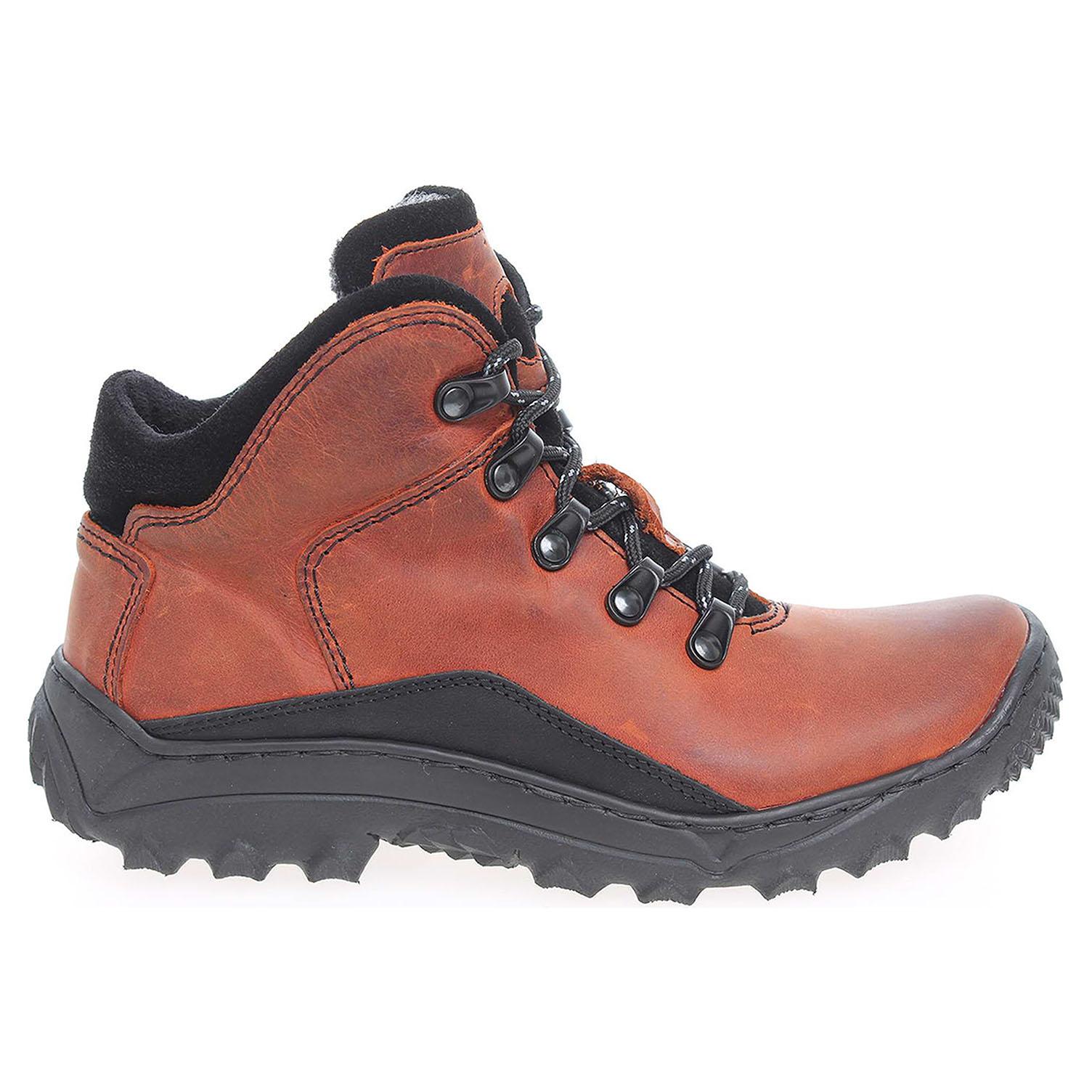 Dámská kotníková obuv EF151 oranž-černá 37