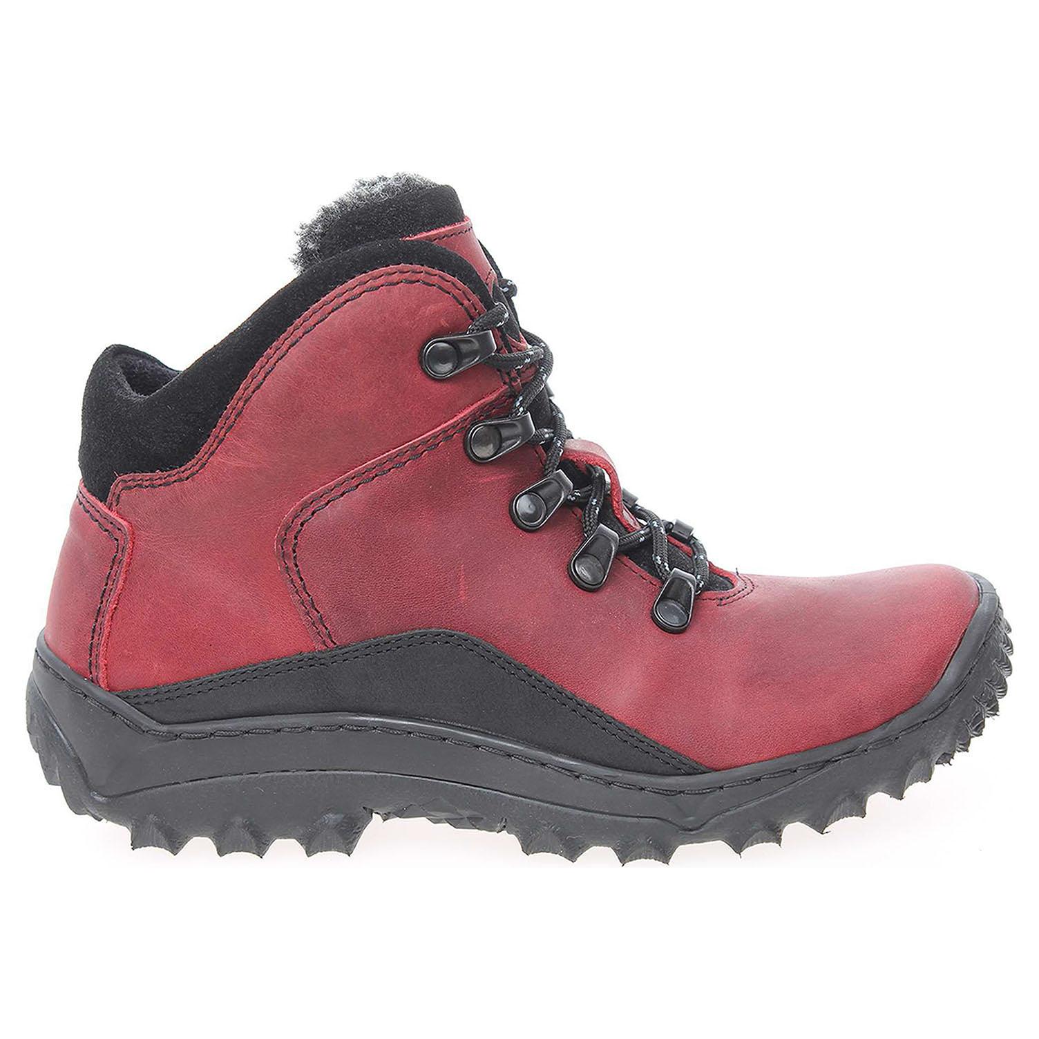 Dámská kotníková obuv EF151 červená-černá 37