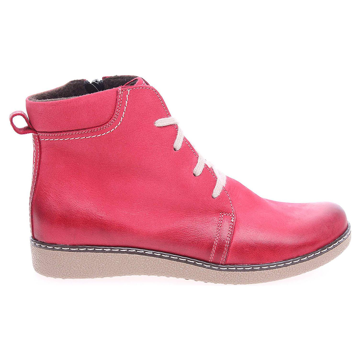 Ecco Dámská kotníková obuv J3171C červená 22400536