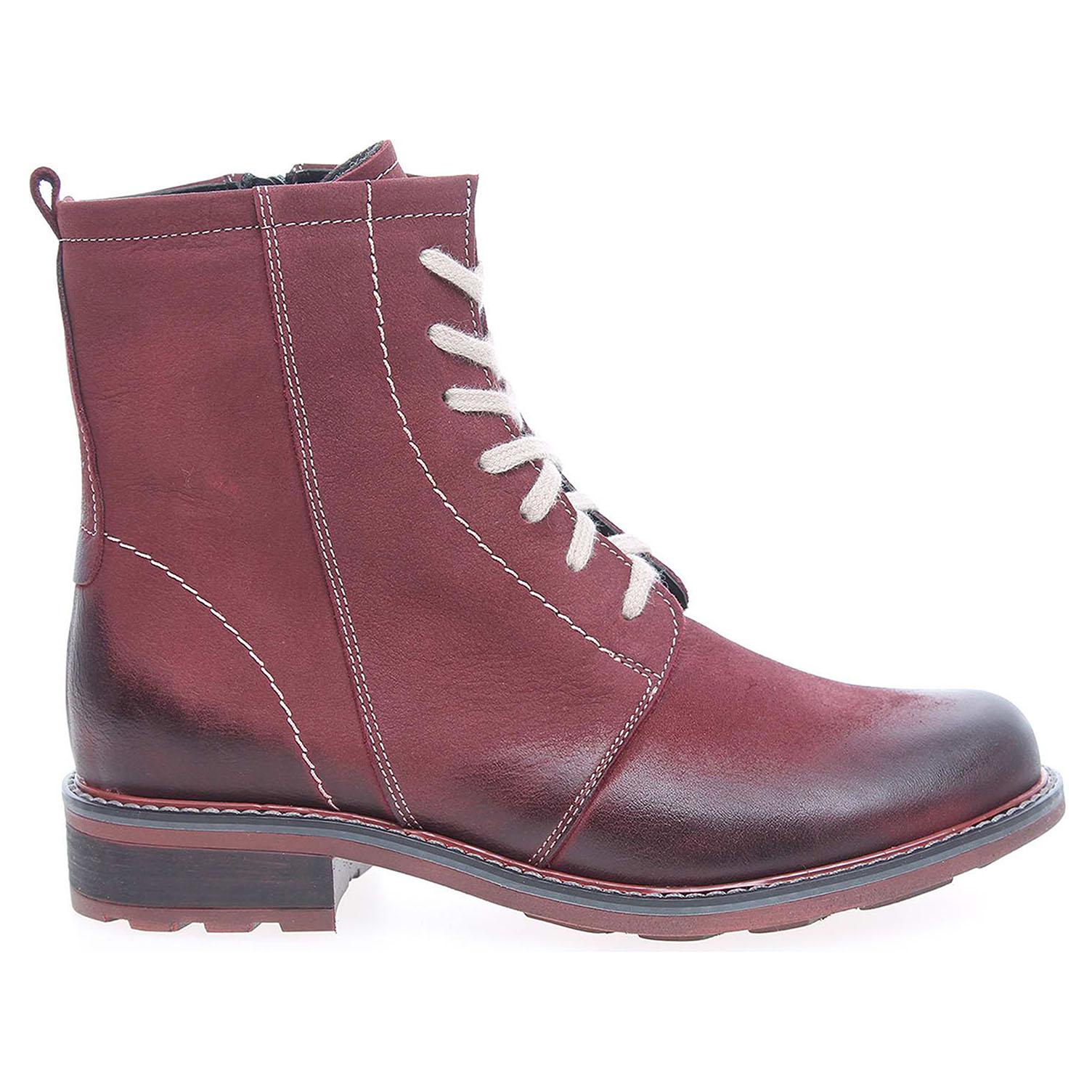 Ecco Dámská kotníková obuv J3085 bordo 22400537