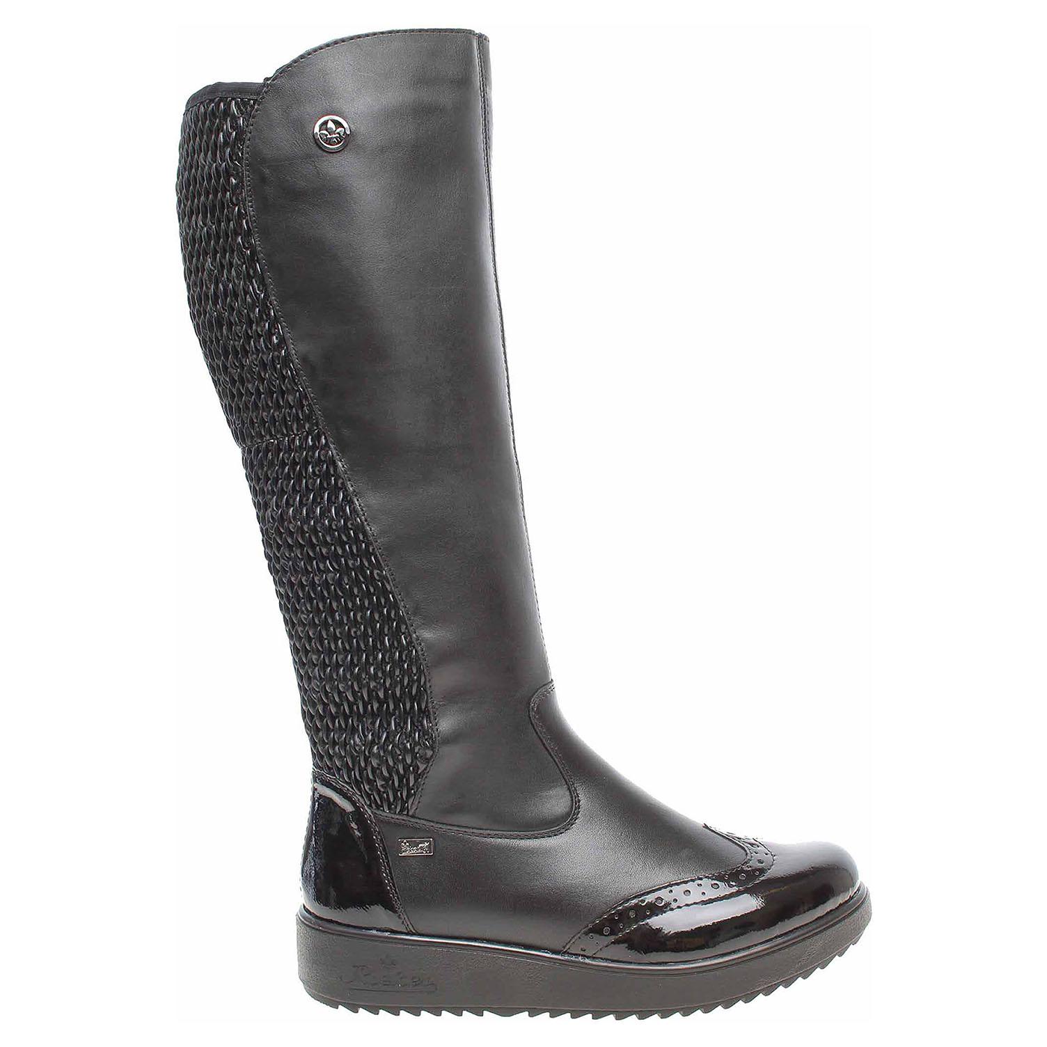 Ecco Rieker dámské kozačky Y5193-00 černé 22500817