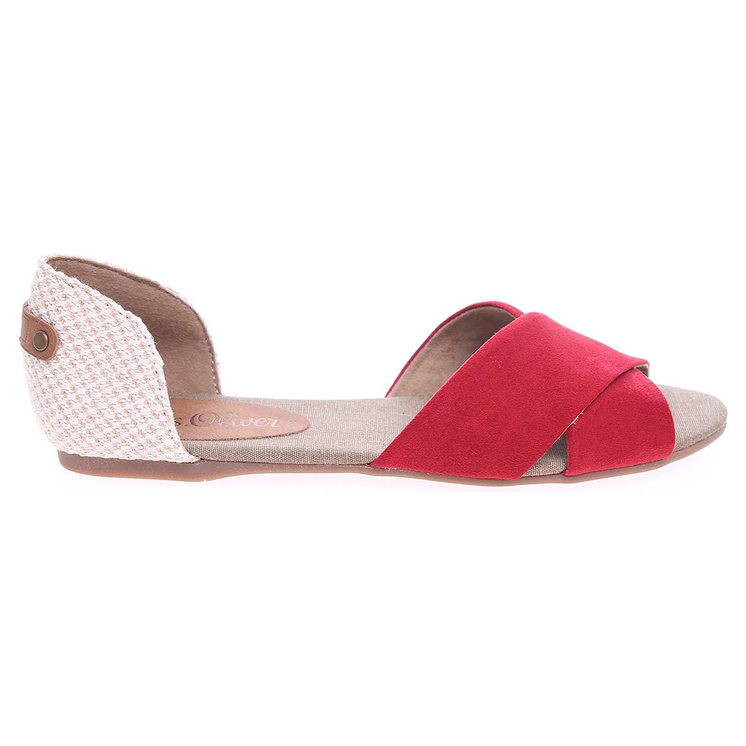 s.Oliver dámská obuv 5-28129-36 červená-béžová 36