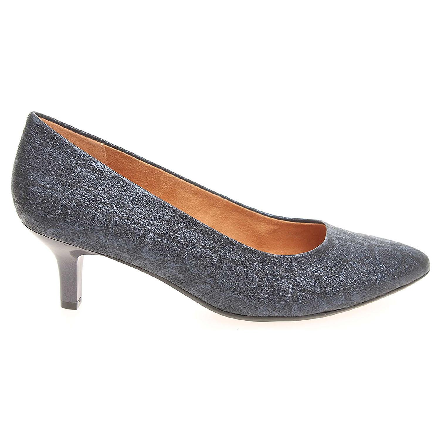 Ecco Caprice dámské lodičky 9-22406-27 modré 22901189