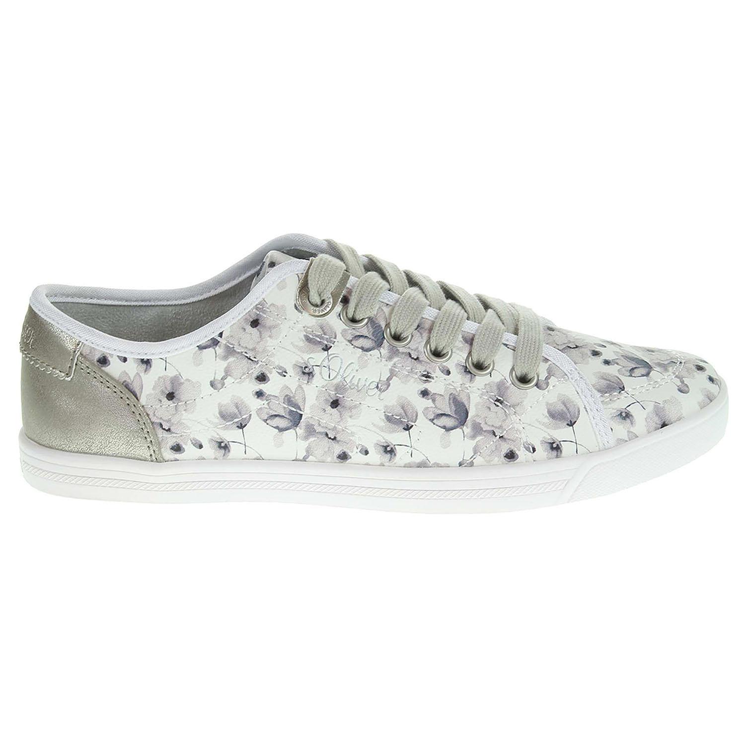 s.Oliver dámská obuv 5-23631-26 šedá-bílá 40 šedá šedá