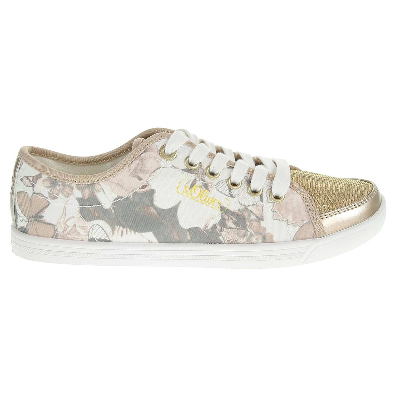 s.Oliver dámská obuv 5-23637-36 zlatá-béžová 39