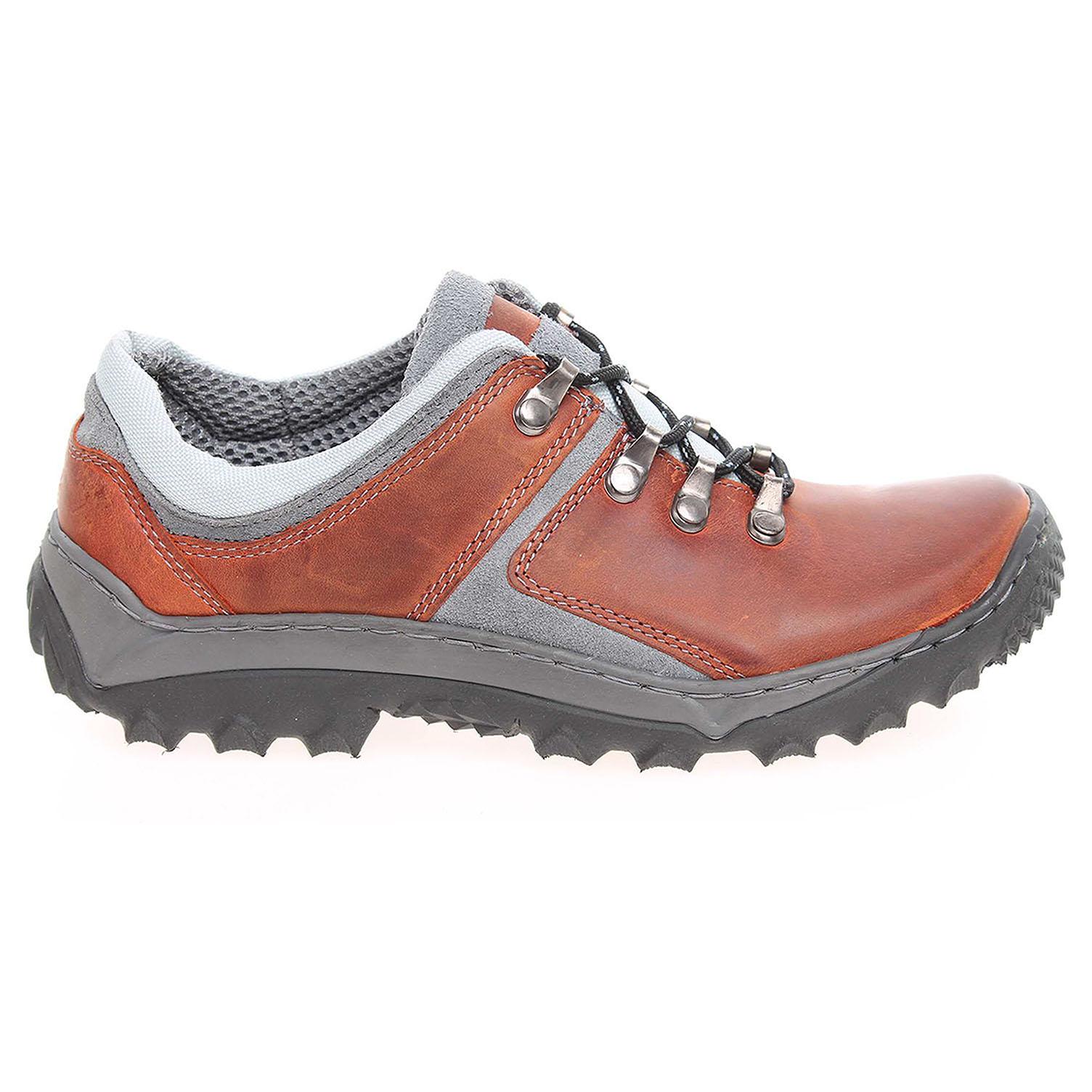 Ecco Dámská vycházková obuv EF188 oranž-šedá 23200570