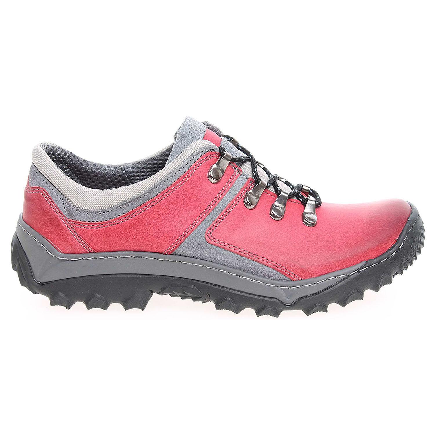 Ecco Dámská vycházková obuv EF188crc červená 23200571