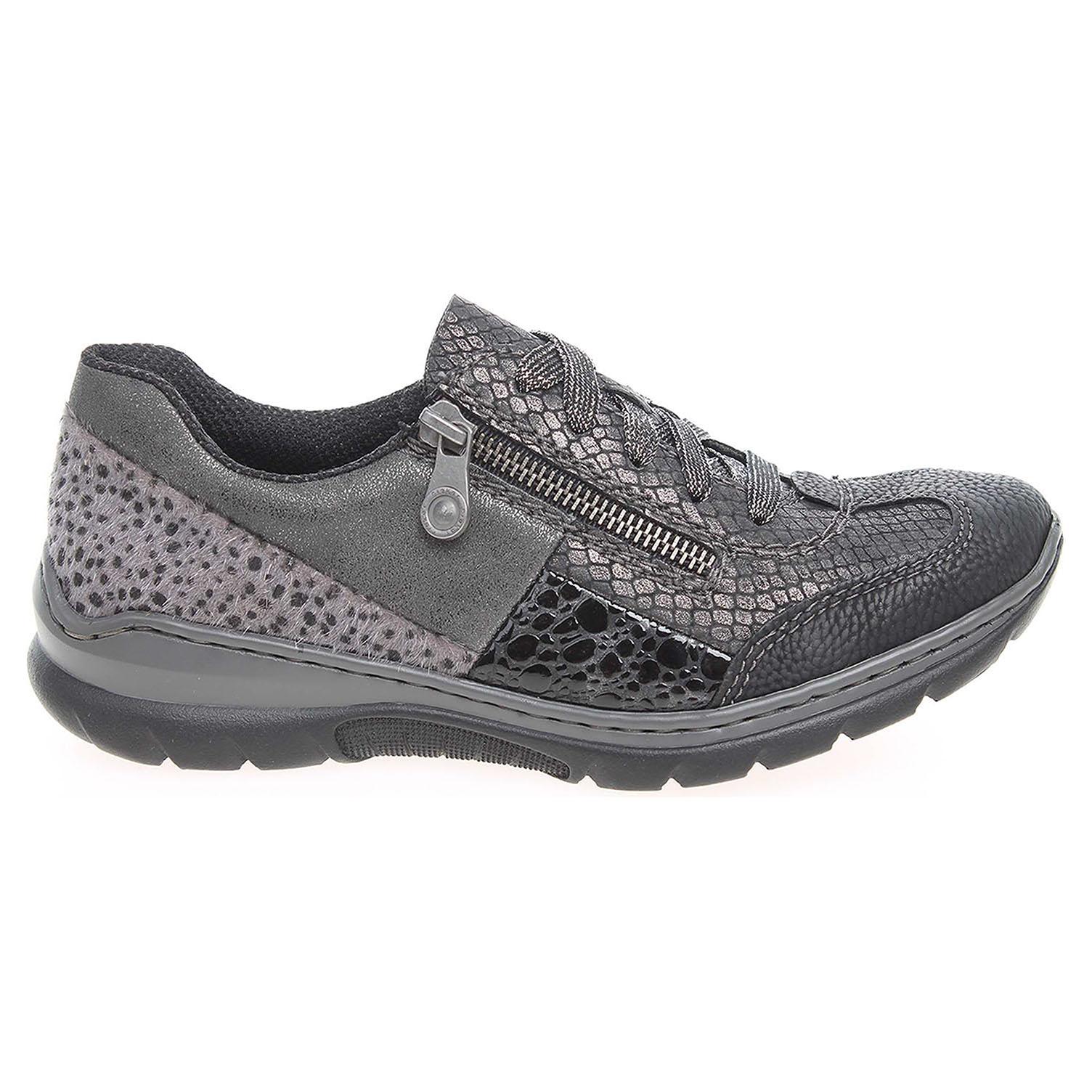 Ecco Rieker dámská obuv L3223-00 černá-šedá 23200575