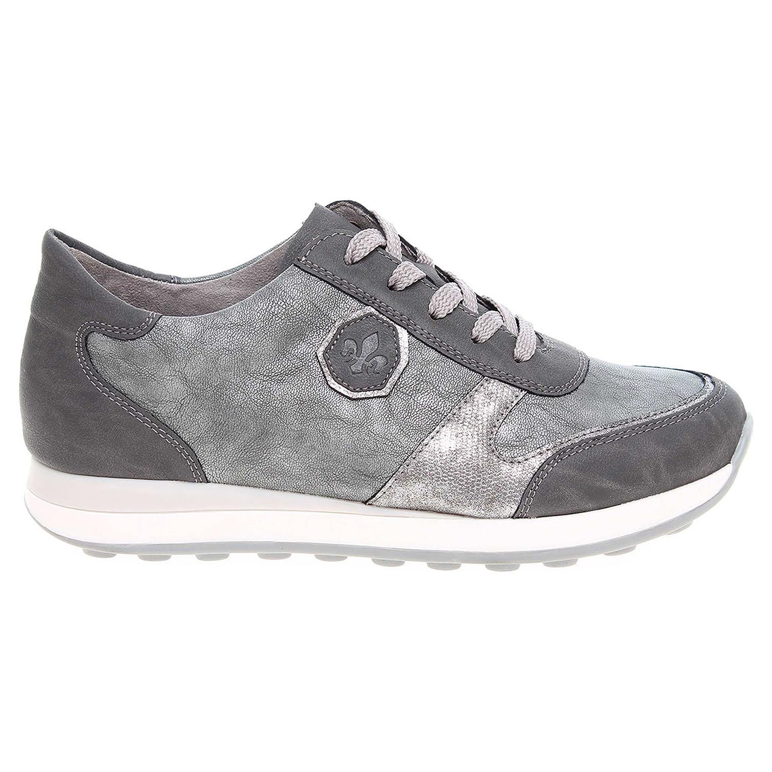 Ecco Rieker dámská obuv N1823-45 šedá-stříbrná 23200588