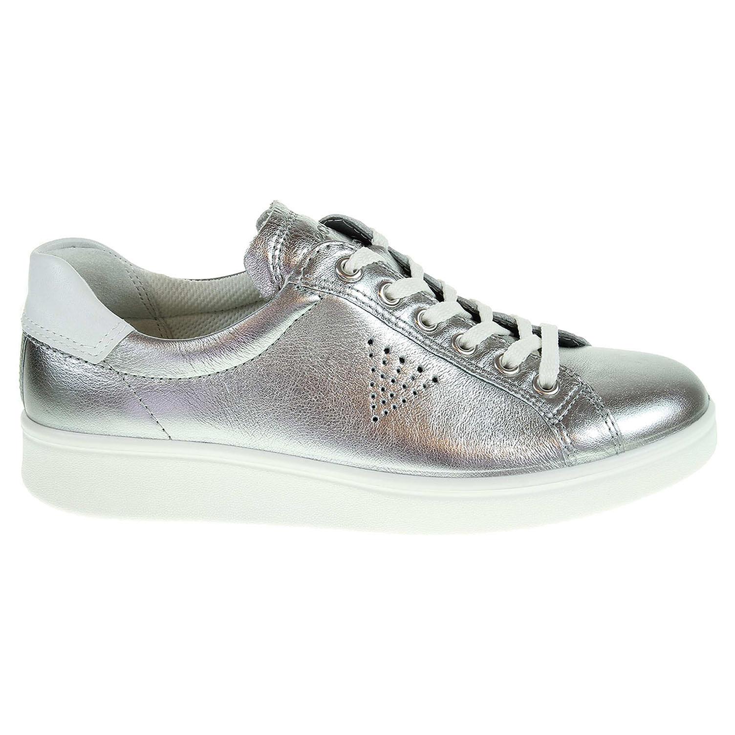 Ecco Soft 4 dámská obuv 21803350521 stříbrná 41