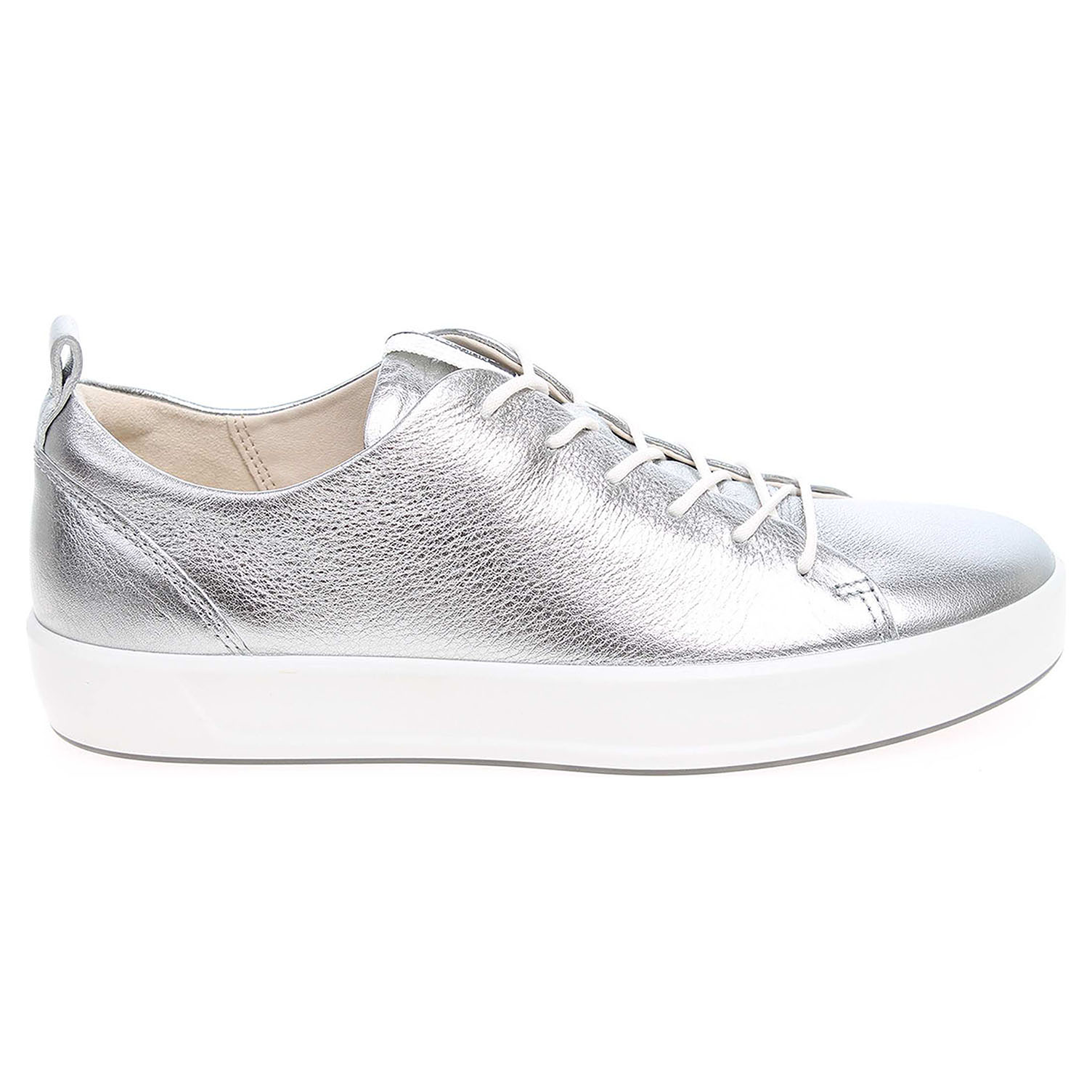 Ecco Soft 8 Ladies dámská obuv 44050301708 stříbrná 41
