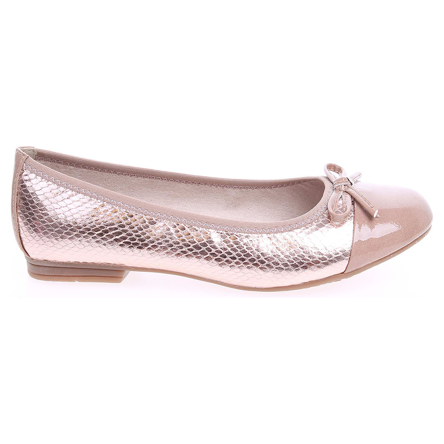 Ecco Jana dámské baleriny 8-22119-26 růžová-béžová 23300799