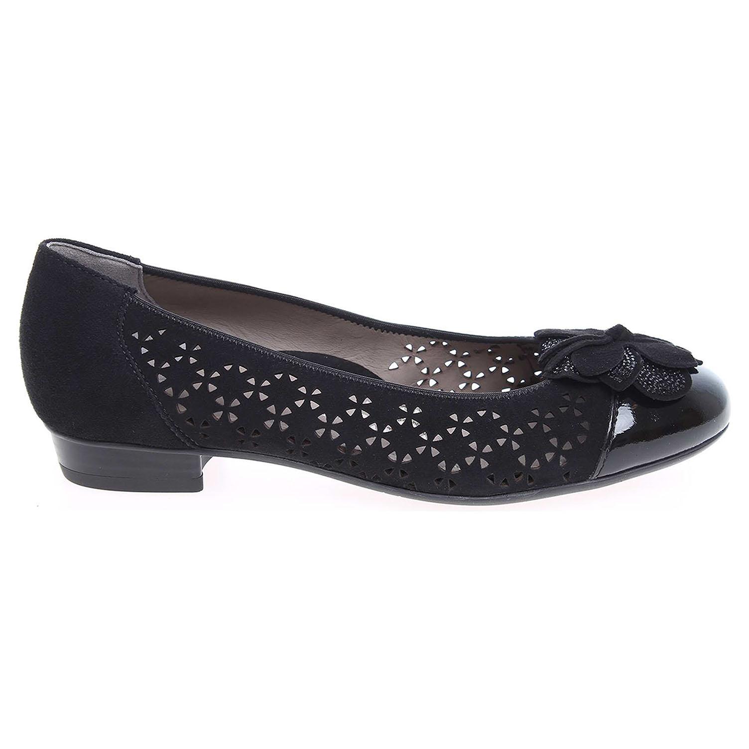 Ecco Ara dámské baleriny 33762-01 černé 23300810