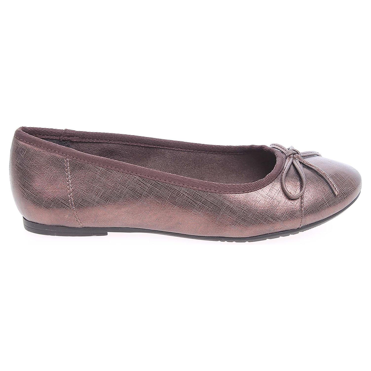 Ecco Tamaris dámské baleriny 1-22108-27 bronzové 23300828