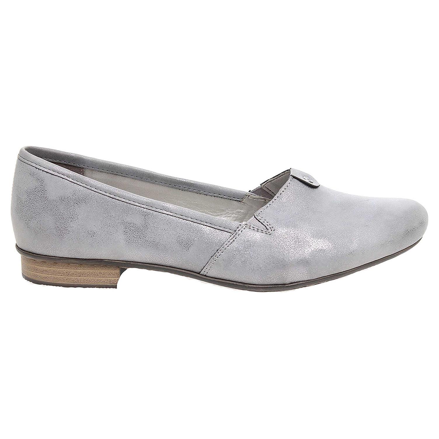 Ecco Rieker dámské baleriny 51961-42 šedé 23300838