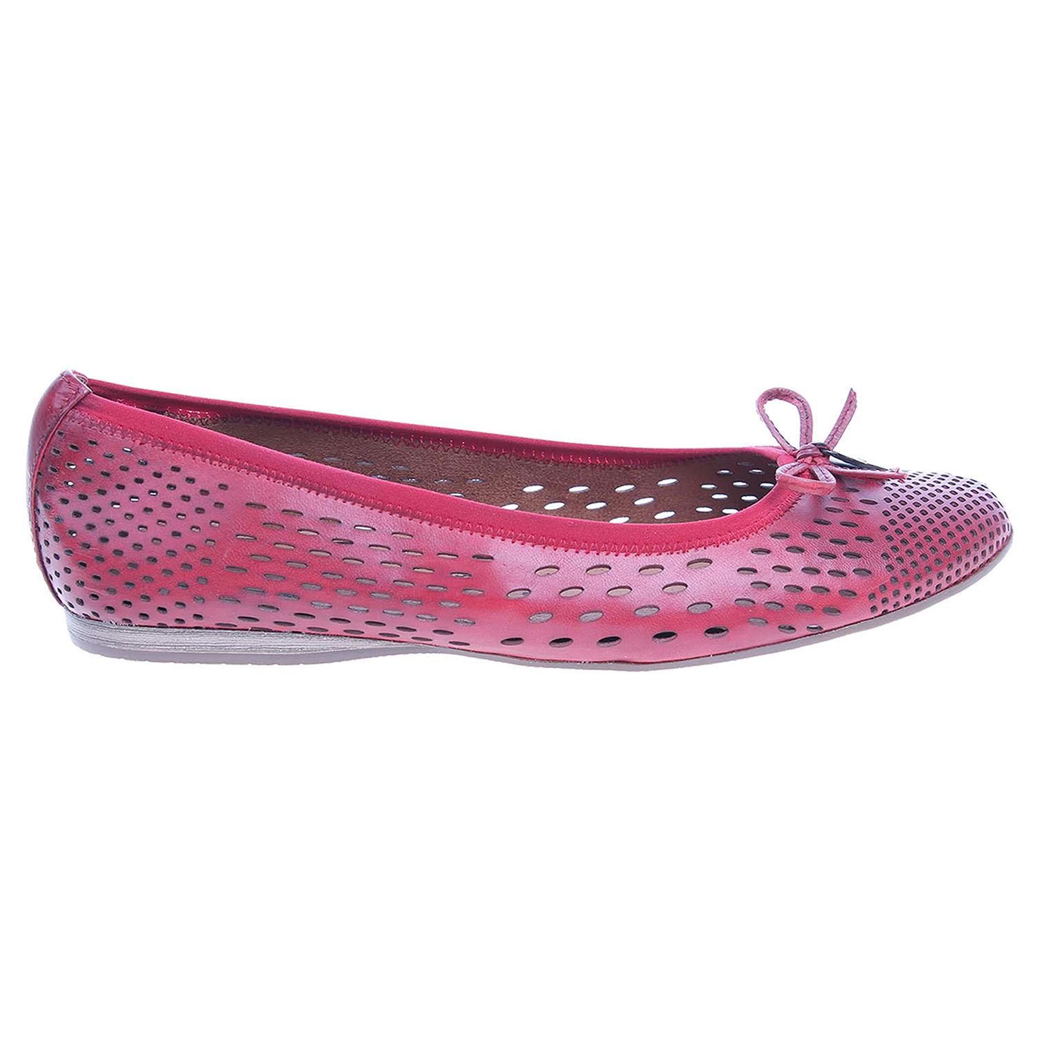 Ecco Tamaris dámské baleriny 1-22107-28 červené 23300868