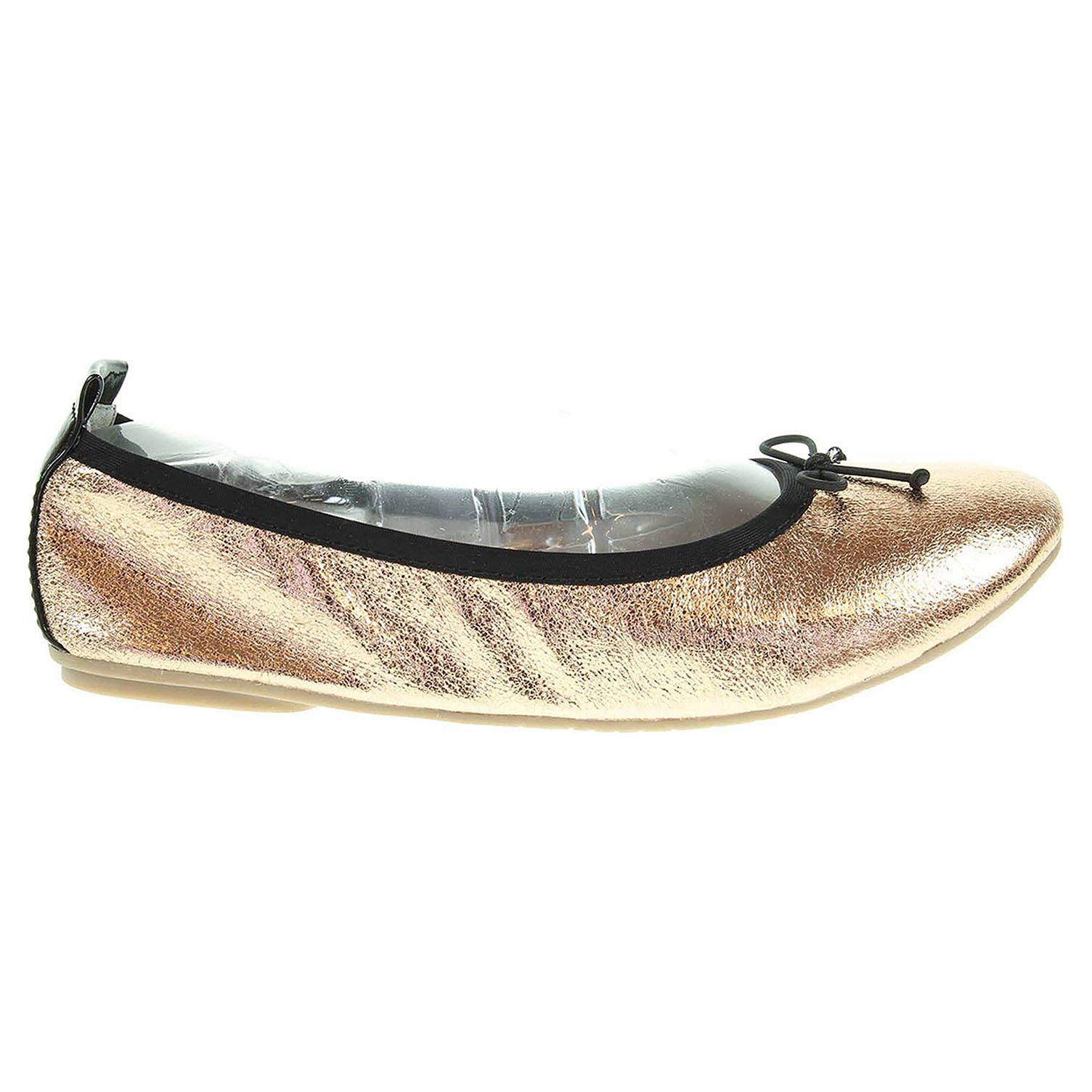 Ecco Tamaris dámské baleriny 1-22113-28 zlaté 23300879