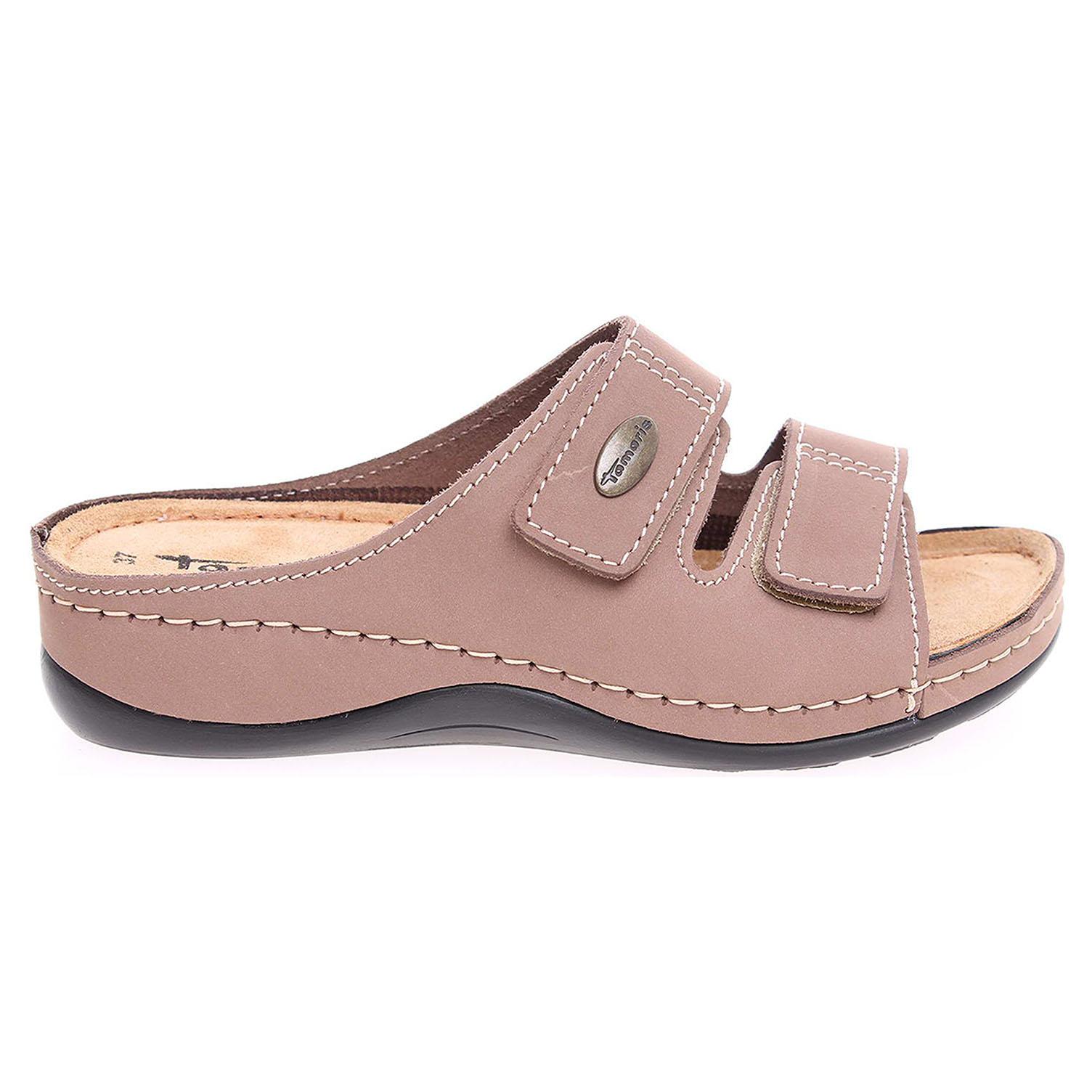Ecco Tamaris dámské pantofle 1-27510-28 béžové 23400152
