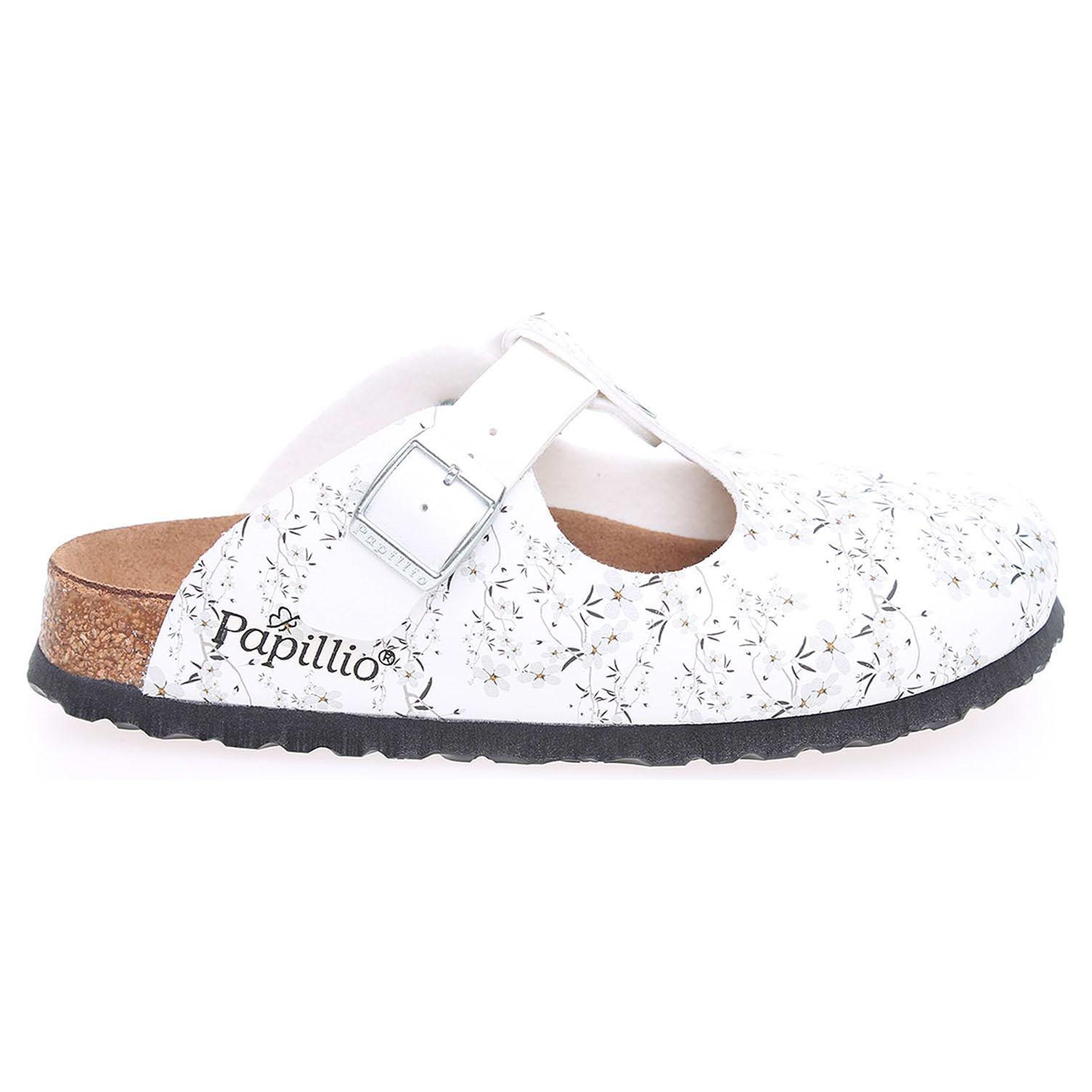 Ecco Papillio Frankfurt zdravotní pantofle 172903 bílá 23400164
