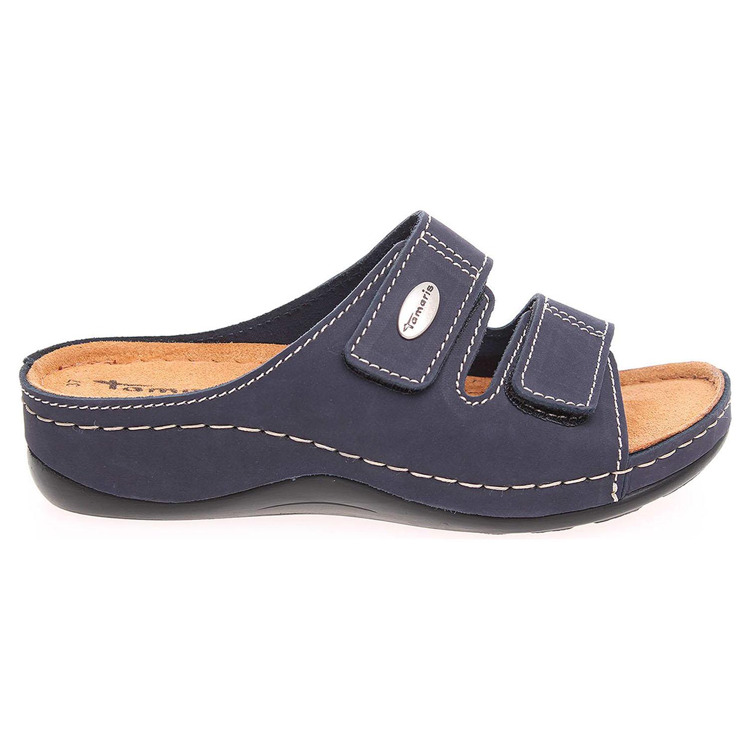 Ecco Tamaris dámské pantofle 1-27510-28 modré 23400181