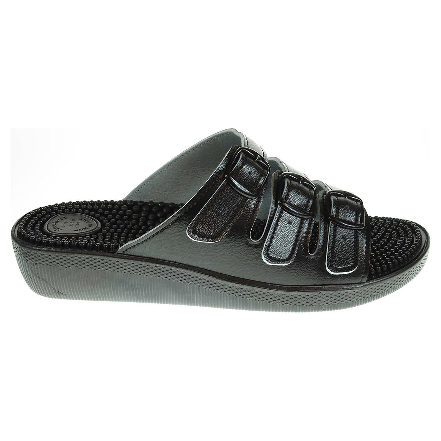 Zdravotní pantofle PK Rega masážní černé 39