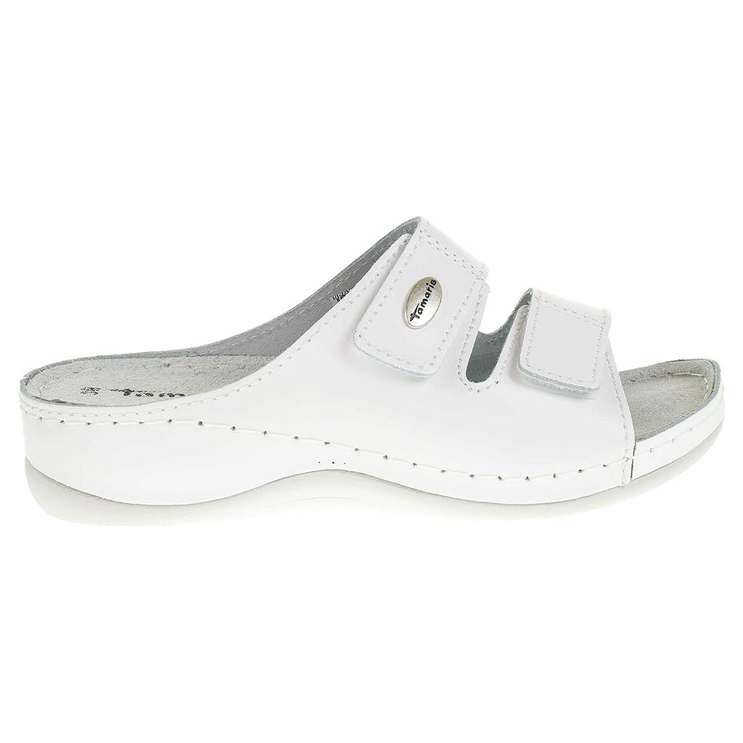 Ecco Tamaris dámské pantofle 1-27510-28 bílé 23400230