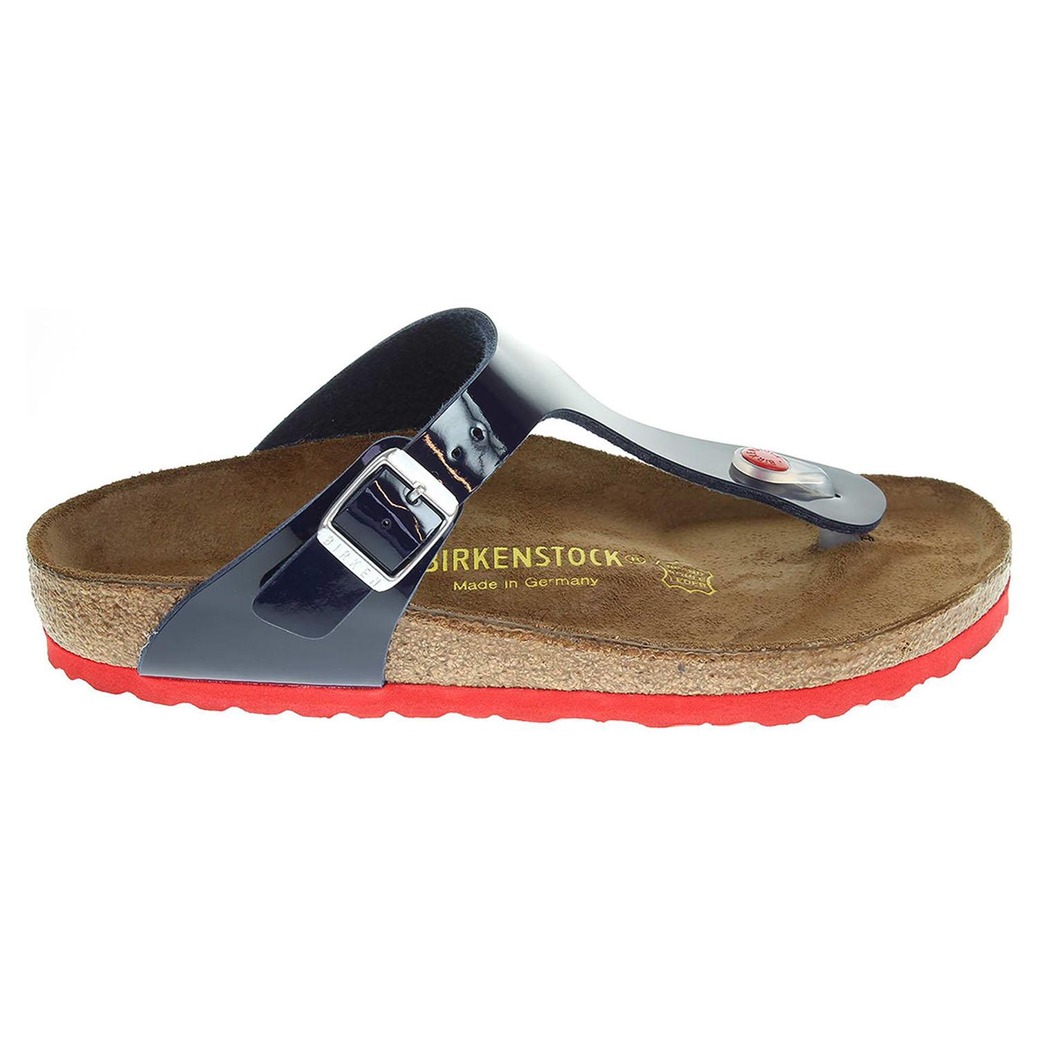 Birkenstock Gizeh dámské pantofle 845881 modré 41