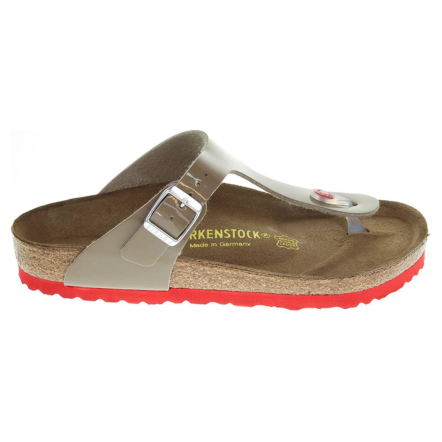 Birkenstock Gizeh dámské pantofle 745211 béžové 41