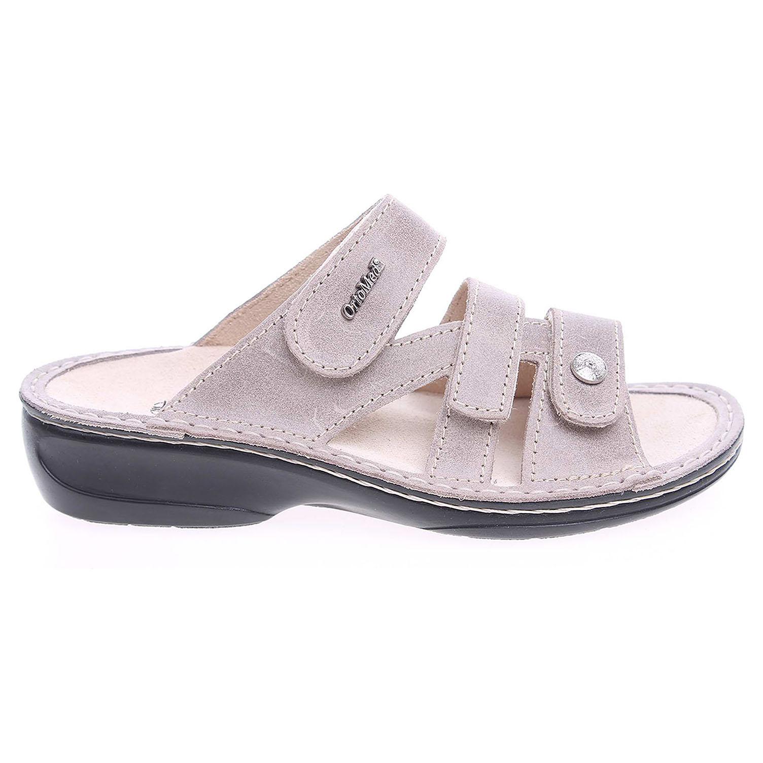 Ecco OrtoMed dámské pantofle 3715-012-P61 béžové 23400278 6ec33975cef