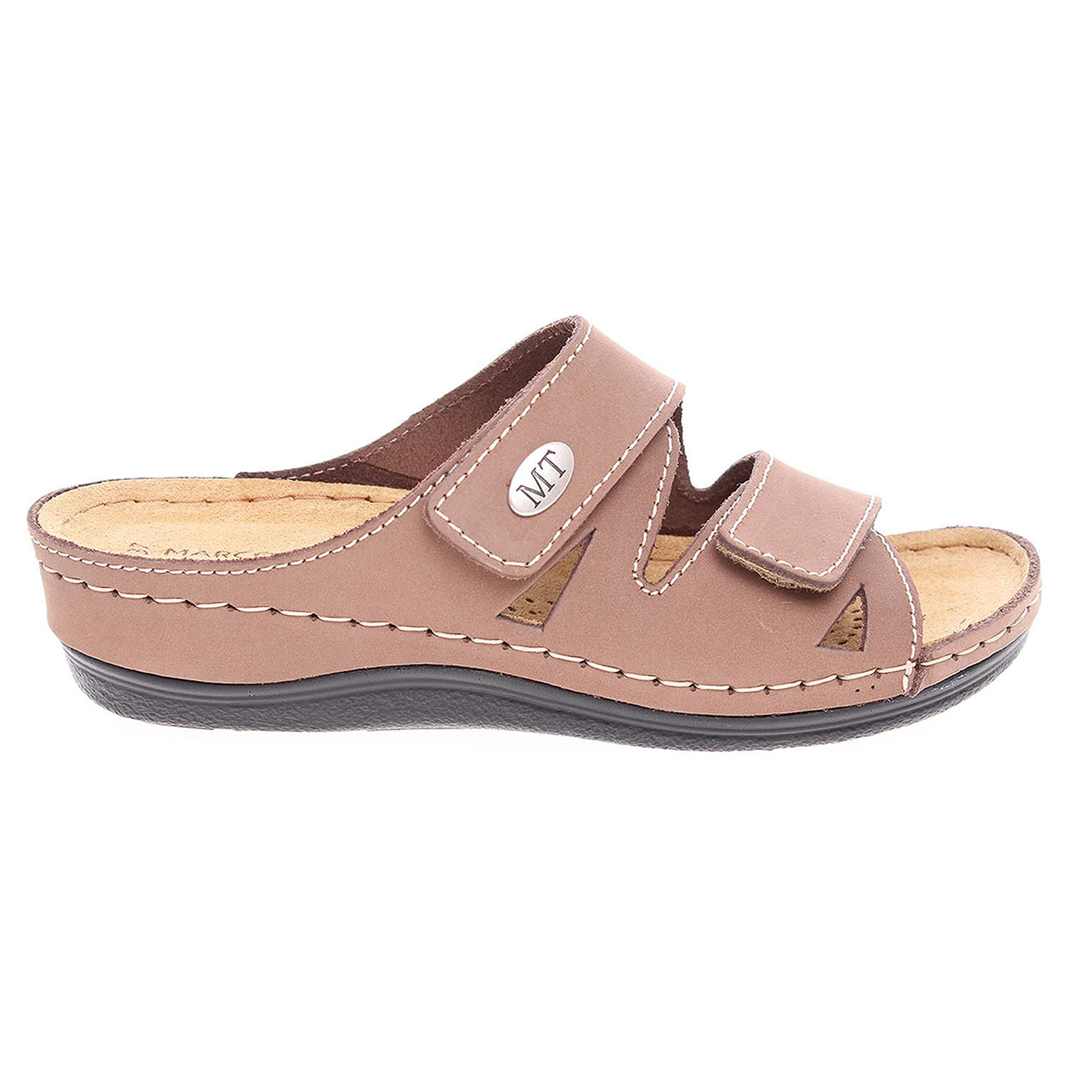 Ecco Marco Tozzi dámské pantofle 2-27512-28 béžové 23400308