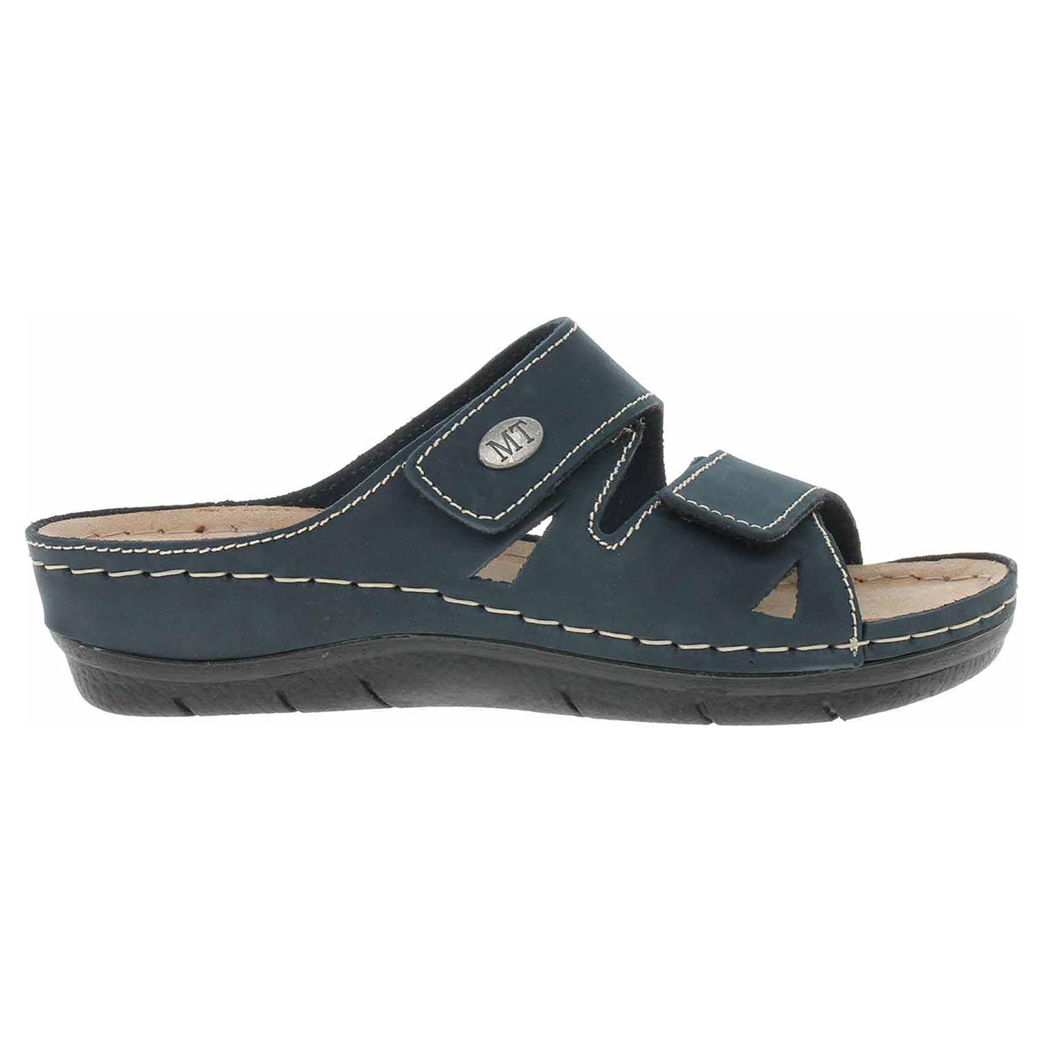 Ecco Marco Tozzi dámské pantofle 2-27512-28 modré 23400309