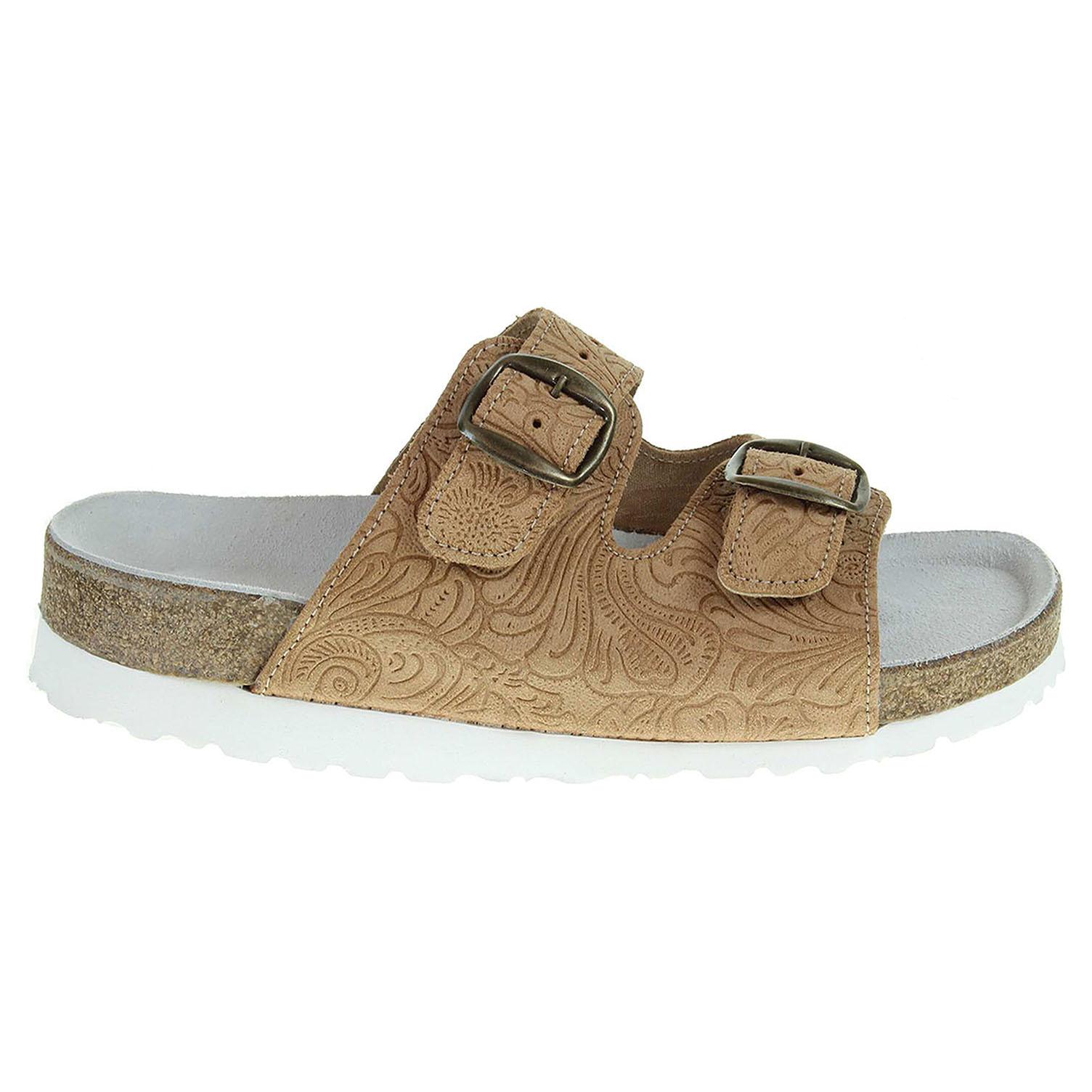 Ecco Pegres dámské pantofle 2101.00 béžové 23400322