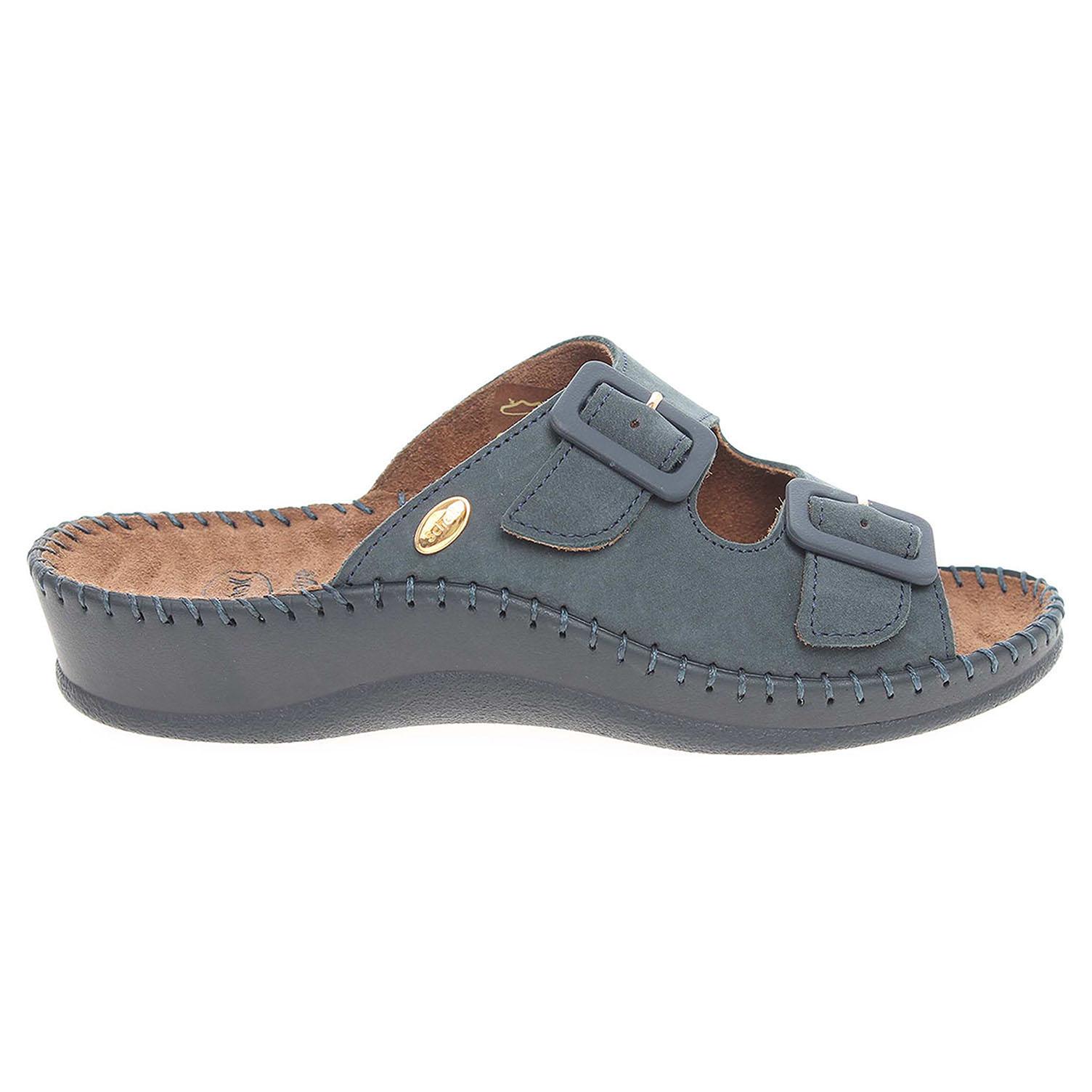 Ecco Scholl dámské pantofle F20068 1040 Weekend modré 23400332