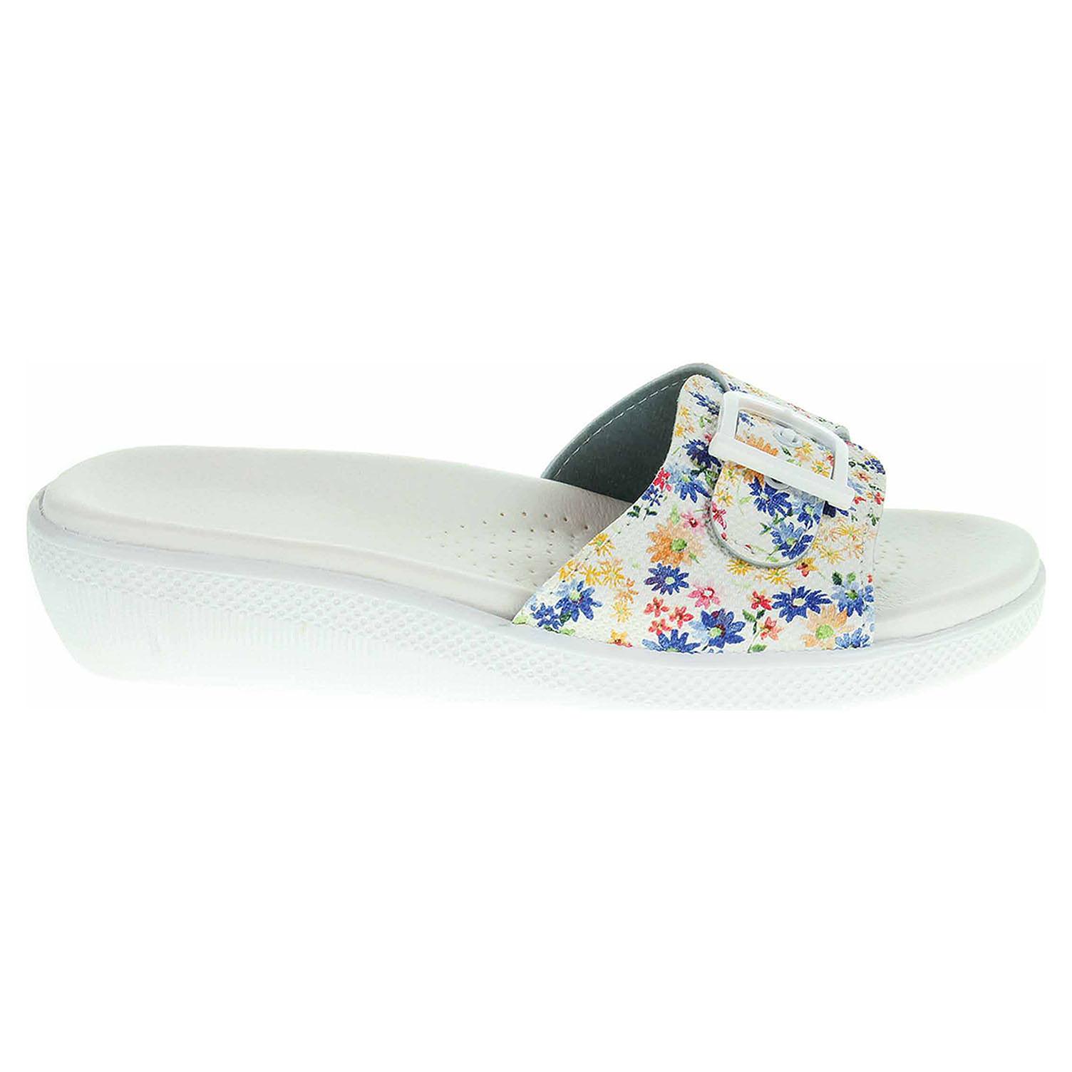 Ecco Dámské pantofle 5-20105 bílá-multicolor 23400336