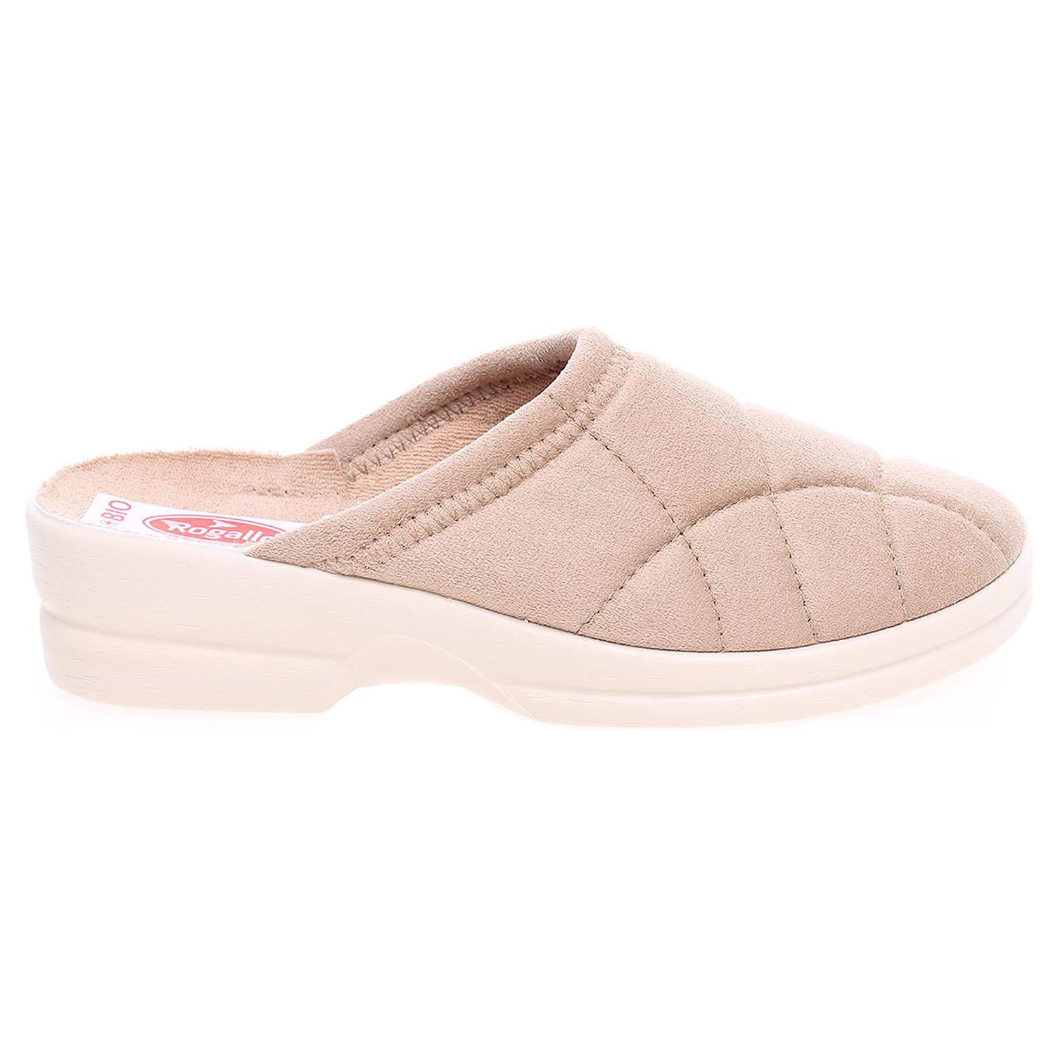 Rogallo domácí dámské pantofle 14779 béžové 41