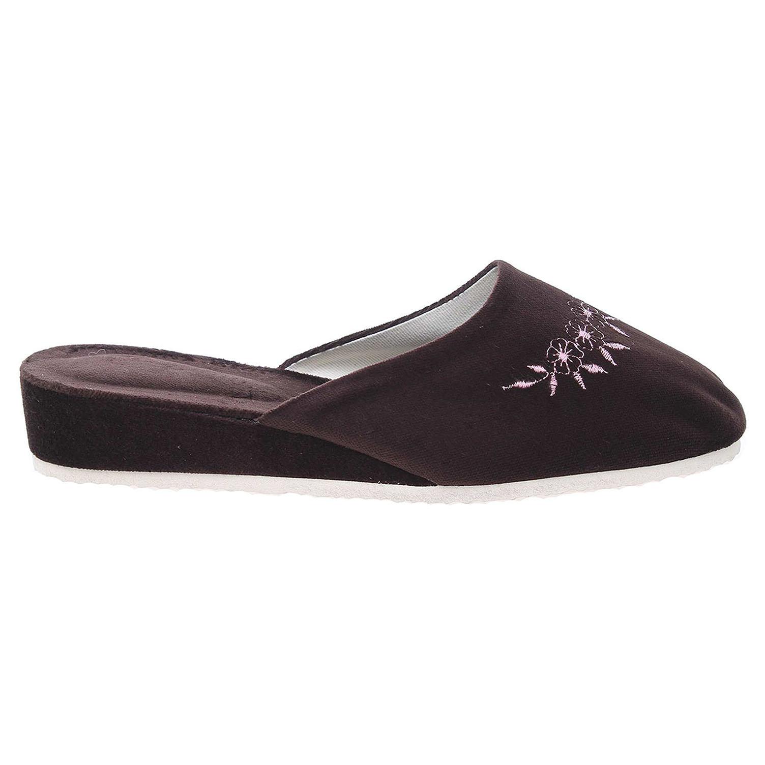Ecco Dámské domácí pantofle 1028.00 hnědé 23500246